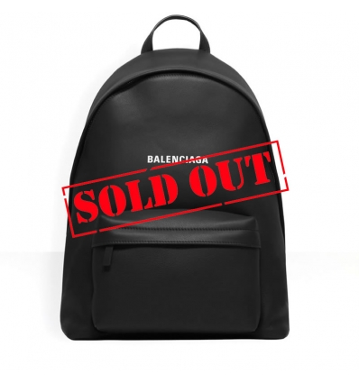 BALENCIAGA Everyday Backpack in black natural grain calfskin - 988ASS20