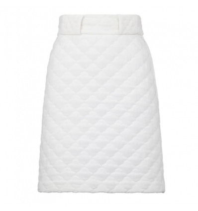 FENDI FQ7144AC40Q WHITE HIGH WAISTED SKIRT - 1286ASS20