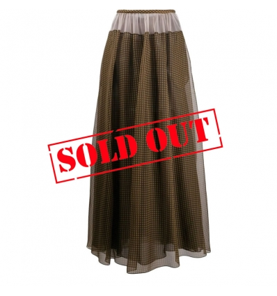 FENDI FQ7141A5ZB VICHY ORGANZA SKIRT - 1284ASS20