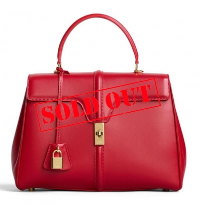 CELINE RED SMALL 16 BAG IN SATINATED CALFSKIN - 1066ASS20