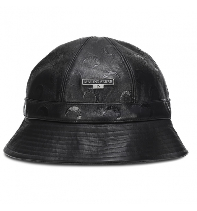 MARINE SERRE AU006 BLACK BUCKET HAT - 1318ASS20