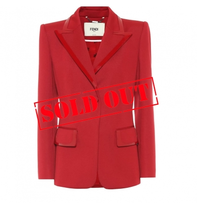 FENDI Leather-trimmed jersey blazer - 1067ASS20