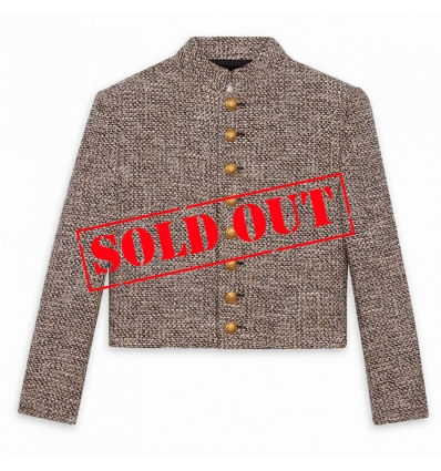 CELINE OFFICER JACKET 8 BUTTONS IN LIGHTWEIGHT TWEED - 835ASS20