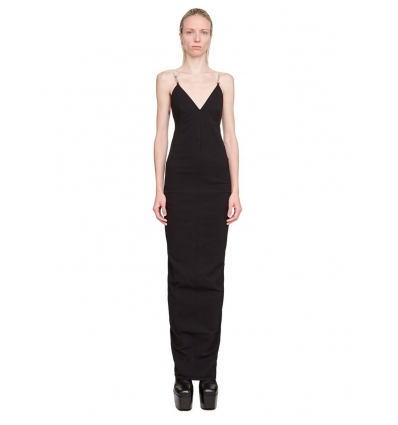 RICK OWENS 2517GG MAILLOT GOWN IN BLACK - 1367AW2021