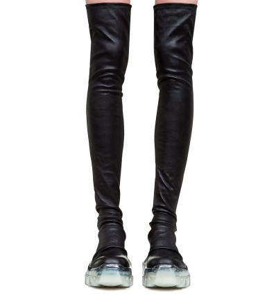 RICK OWENS 2886LNS BOZO TRACTOR STOCKING BOOTS - 1406AW2021