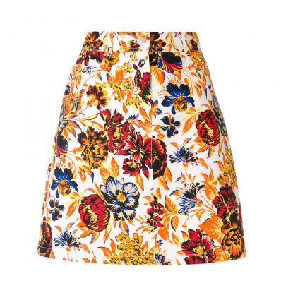 MSGM floral denim skirt - 10SS18