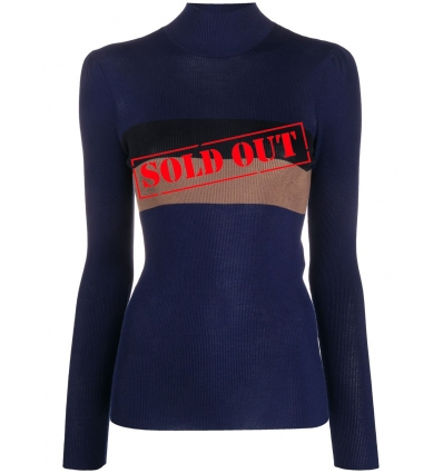 FENDI FZX523ABWT HIGH-NECK RIBBED JUMPER    - 1495AW2021