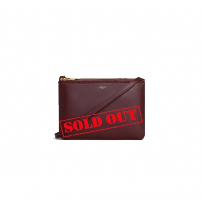 CELINE 192033CAD.28BD BURGUNDY TRIO BAG IN SMOOTH LAMBSKIN - 1821SS2021