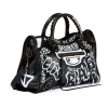 BALENCIAGA BLACK CLASSIC CITY GRAFFITI PRINT - 99SS18
