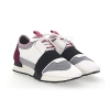 BALENCIAGA SNEAKERS RACE RUNNER LEATHER WHITE SUEDE Bordeaux Fabric-Mesh-Grey - 96SS18