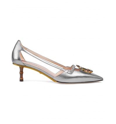 Gucci Metallic leather pump - 144SS18