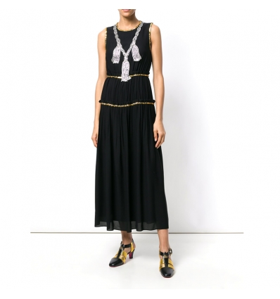 Gucci embellished pleated maxi dress - 160SS18