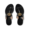 Gucci Leather thong sandals with Double G - 162SS18