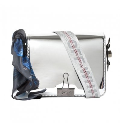 Off White mirror binder clip bag - 253W1819
