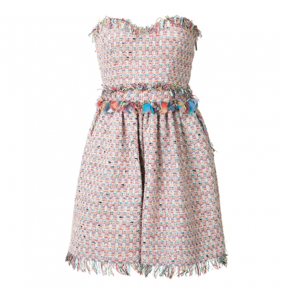 MSGM strapless tweed dress - 35SS17