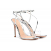 Gianvito Rossi Plexi and metallic leather sandals - 386SS19