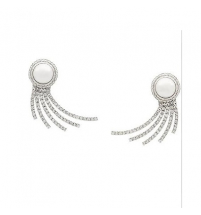 ALESSANDRA RICH embellished wave clip-on earrings - 368SS19