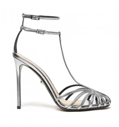 ALEVI STELLA Shine Silver Leather Sandals - 474SS19