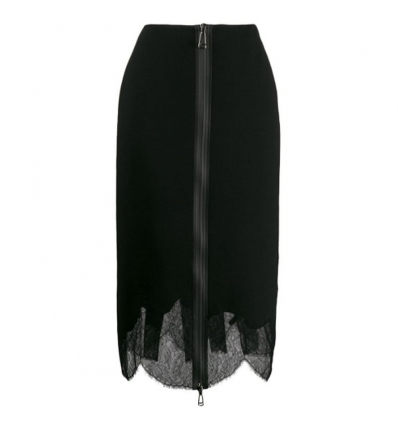 FENDI layered zip pencil skirt- 493AW19/20