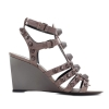 Balenciaga Arena Leather Wedge Sandals - 63SS17